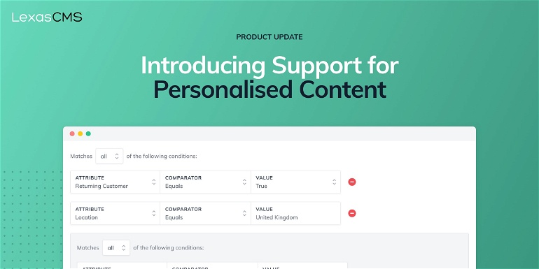 Cover for Introducing Support for Personalised Content