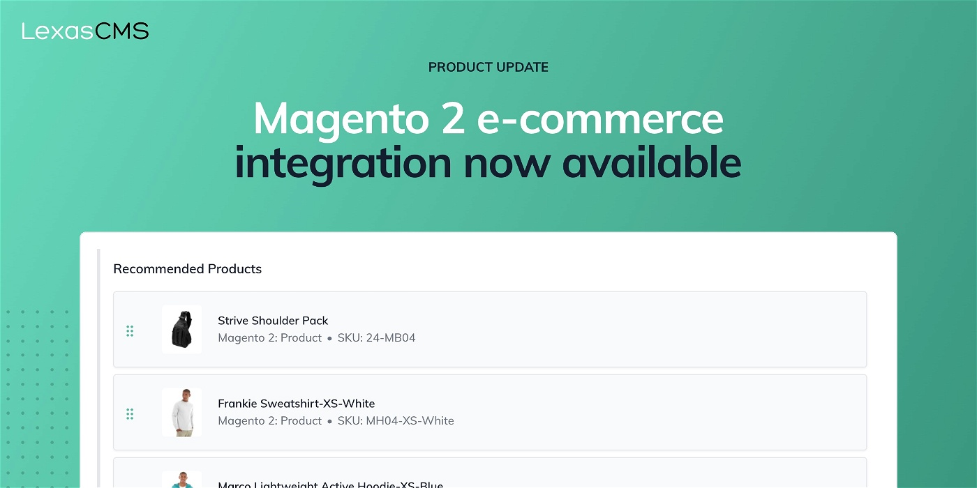 Cover for Magento 2 e-commerce integration now available
