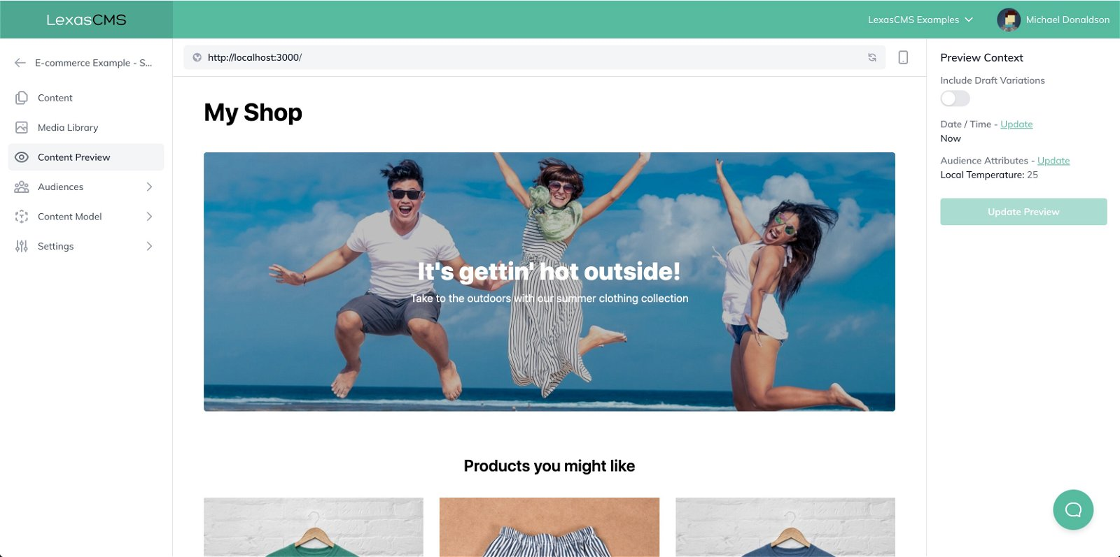 My Shop Warm Climate Preview