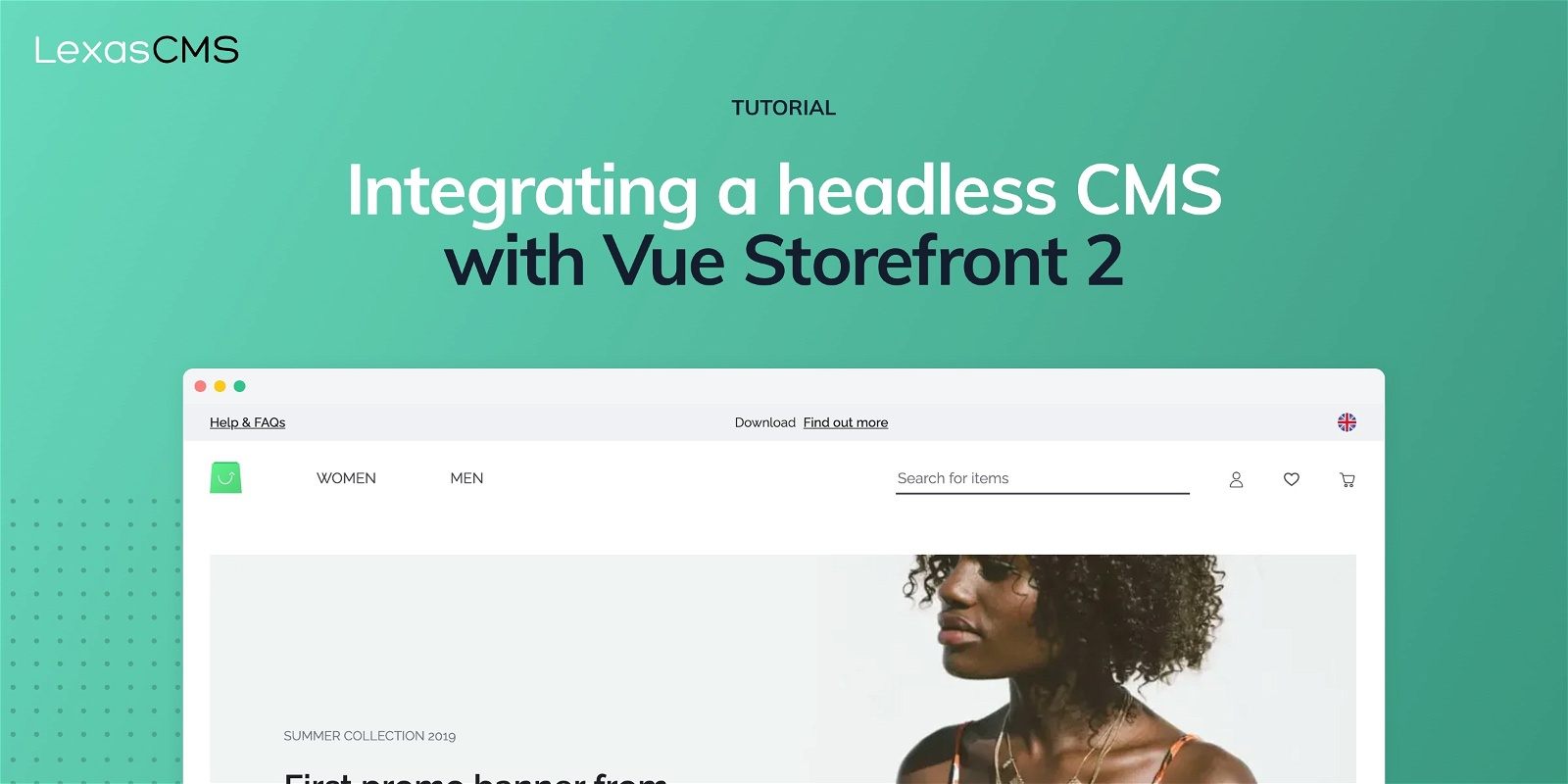 Cover for Integrating a headless CMS with Vue Storefront 2